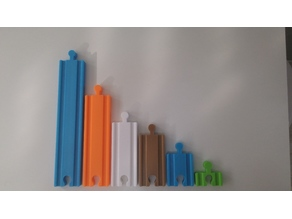 Wooden train pieces compatible to IKEA set