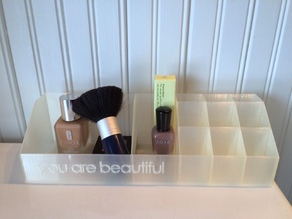 You Are Beautiful Makeup Organizer