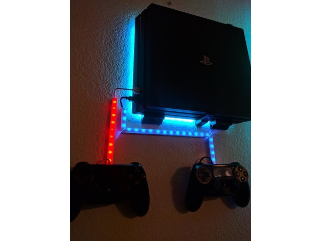 PS4 Pro Wall Mount by dominik-polic - Thingiverse