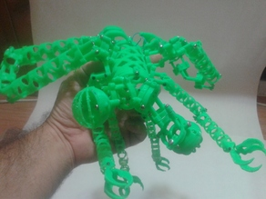 Cyber Mutant DRAGONFLY Space Ship - Meccano Parts
