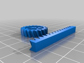 My Customized Parametric Gear Rack and Pinion