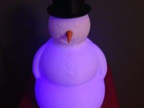 Snowman Lamp (Spiral Vase)