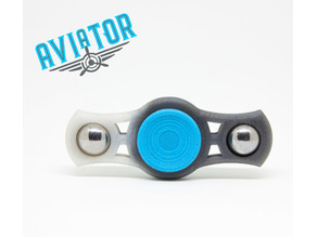 Aviator dual bar fidget spinner