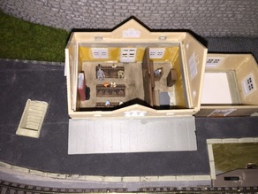 N-scale Faller 212117 Station Interior