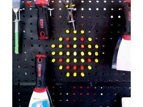 Workshop light peg toy