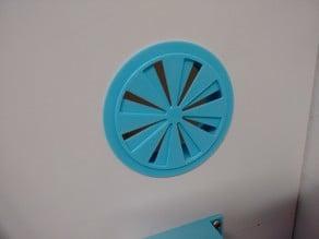 Air trimmer for printer enclosure (64mm bore)