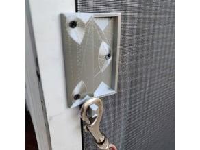 Screen Door Handle with Hook