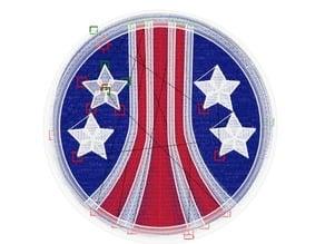US Tricentennial Logo 1 Alien Embroidery