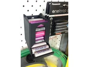 Modular Battery dispenser for pegboards (to suit AA batteries)