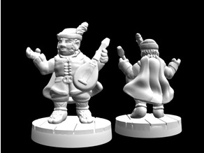 Greensleeves, Halfling Bard (28mm scale)