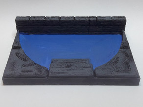 TT Dungeon Pool - Single Wall 3x2 concave + stair