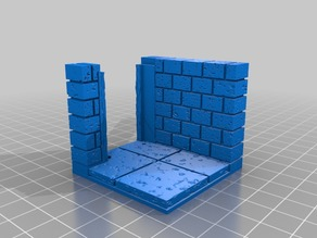 OpenForge 2.0 Cut Stone Wall Angle with Square Door