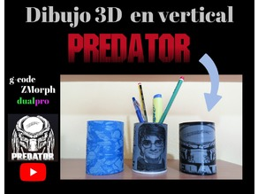 Dibujo 3D en vertical PREDATOR (base)