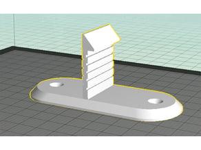 wall clip for hinged bartop