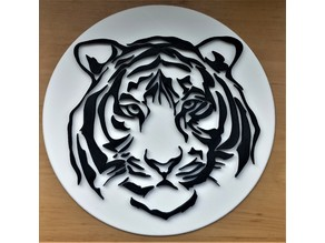 Tribal Tiger with/without plate