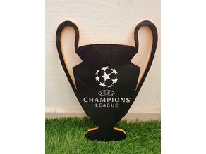 UEFA Champions League Cup (color in same layer sign)