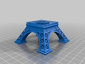 Eiffel Tower, Segmented & Easier to Print