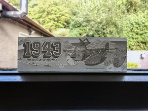 1943: The Battle of Midway - Arcade Marquee - Lithophane - Updated Version