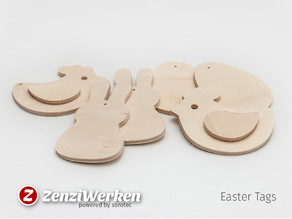 Easter Tags cnc/laser