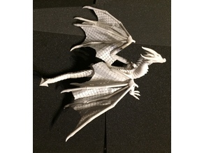 Seven the Articulated Dragon scale fabric wing 3d printed