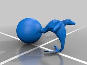 Seal balancing ball colored