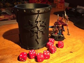 Chaos dice cup