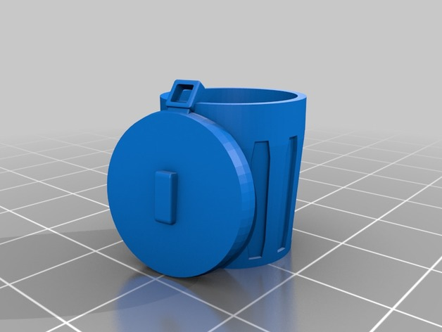 Trash Cans (28mm/Heroic scale) by dutchmogul - Thingiverse