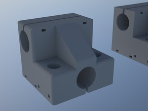 Dual extrusion carriage for Repemaker.(2 j-head hotends)