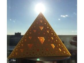Golden Sierpinski Tetrahedron