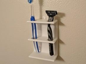 Toothbrush or razor holder