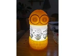 minion lamp with led lighting
