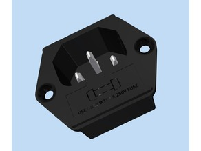 Model - IEC-C14 Inlet with Fuse