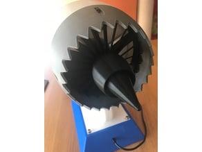 Motor de avion en 3d