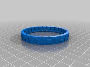 Cryptex food icon letter ring