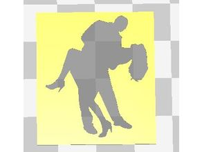 SET OF 4 BALLROOM DANCERS STENCILS