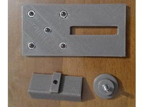 Template for motor holes Nema 17