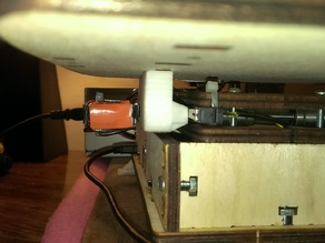Printrbot Jr. X-Axis with integrated stop post.