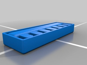 Thumb drive orgainizer, with cap tray
