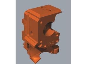 Prusa Mk3s extruder using an indirect Mk3 filament sensor.