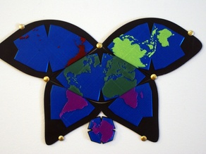 Butterfly World Map - Four Pieces