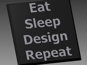 Eat Sleep Design Repeat Coaster
