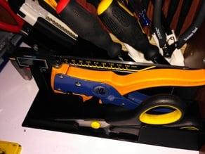 scissors, wire stripper and caliper organizer