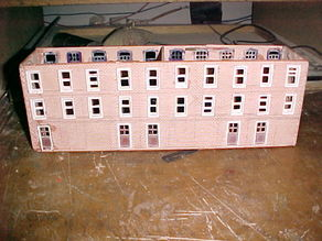 SCALEPRINT TERRACE HOUSES BACK WINDOW/DOOR SET 00/HO SCALE