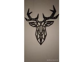 XL Geometric Deer Wall Sculture (Bigger Print Bed)