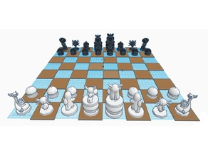 Simple Pokemon Chess Set