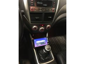 Subaru Impreza phone holder and wireless charger