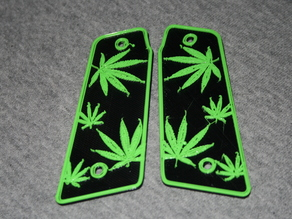 Weed Leaf - 45° Paintball Grips
