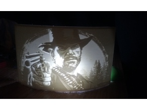 Red Dead Redemption 2 Lithophane