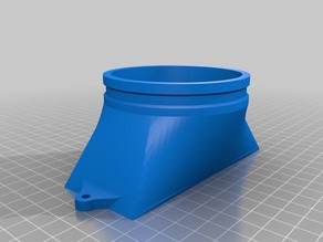 """K40 Laser cutter 3"""" / 80mm fume extraction adapter"""