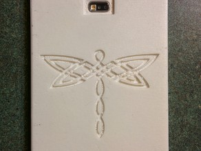 Samsung Galaxy S5 Case with Celtic Dragon Fly and Celtic Borders